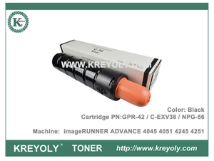Canon NPG56 GPR42 C-EXV38 Toner Cartridge for IR ADVANCE 4045 4051 4245 4251