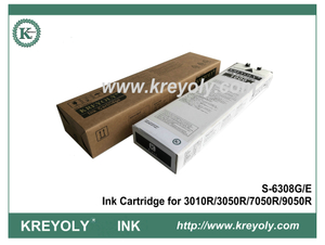 Black S-6308 Ink Cartridge for Riso ComColor 3010R 3050R 7050R 9050R