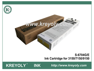 S-6704 Yellow Ink Cartridge For InkJet Machine Riso ComColor 3150 7150 9150