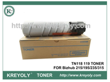 TN118 119 TONER FOR Konica Minolta Bizhub 215 195 235 315