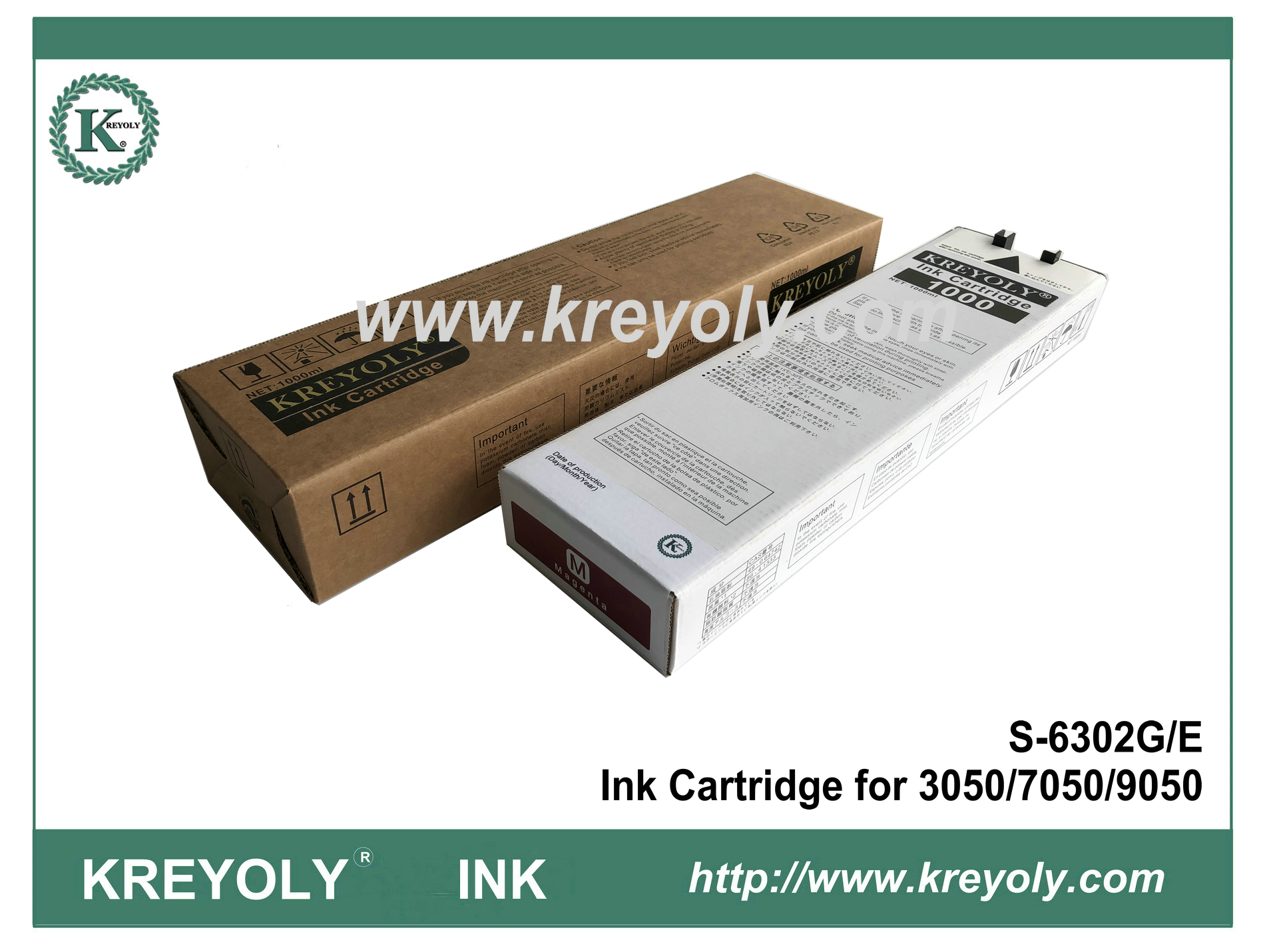 Riso S-6302 Magenta Ink Cartridge for ComColor 3050 7050 9050 Inkjet Machine