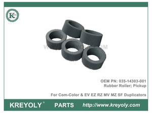 Riso Rubber Pickup Roller 035-14303-001 for Riso ComColor and Riso EV EZ RZ MV MZ SF Duplicators