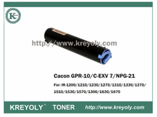 New GPR-10/NPG 21/C-EXV 7 Copier Toner for IR-1200/1210/1230