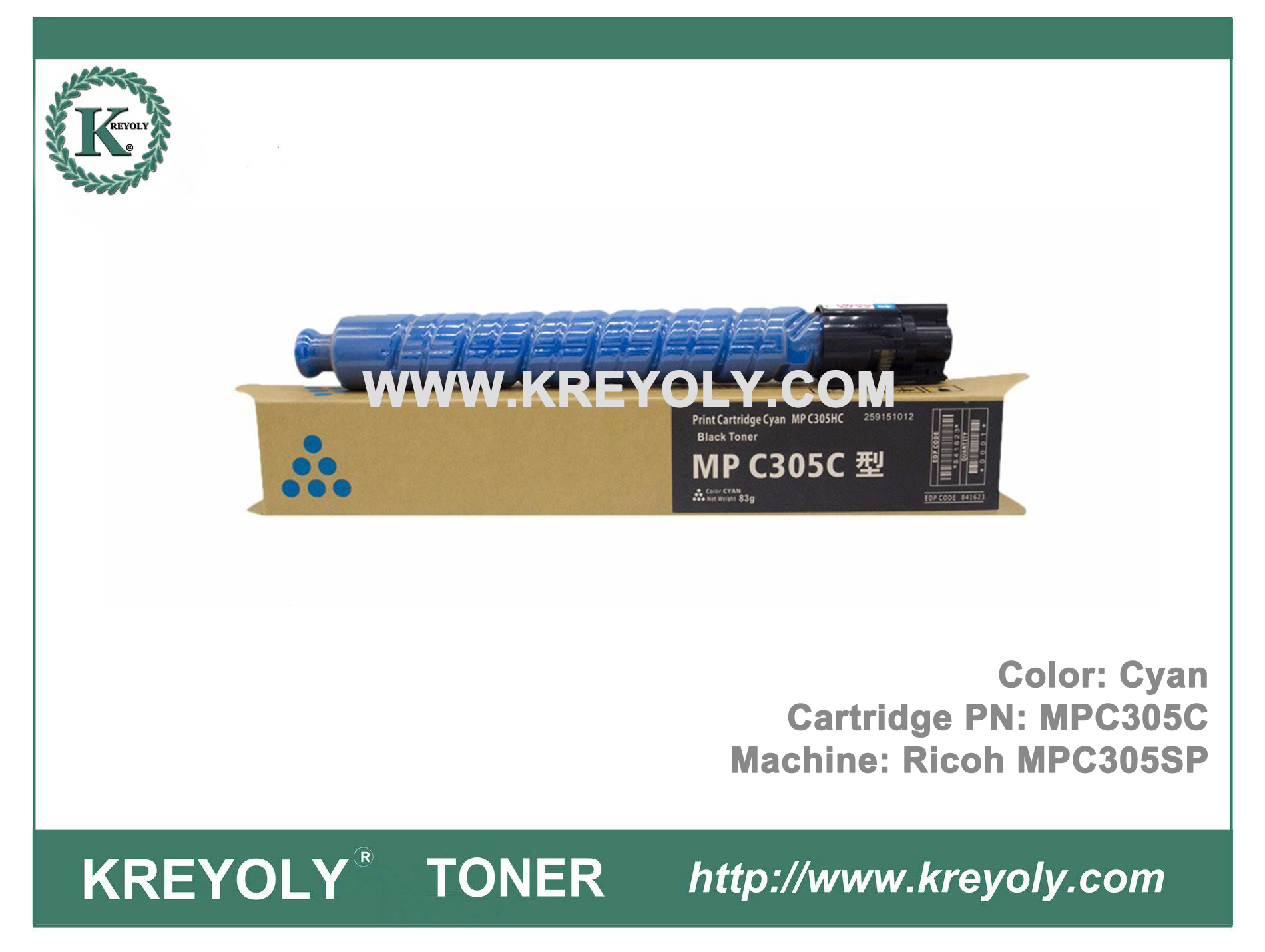 Ricoh Color Toner Cartridge MPC305 For MPC305SP