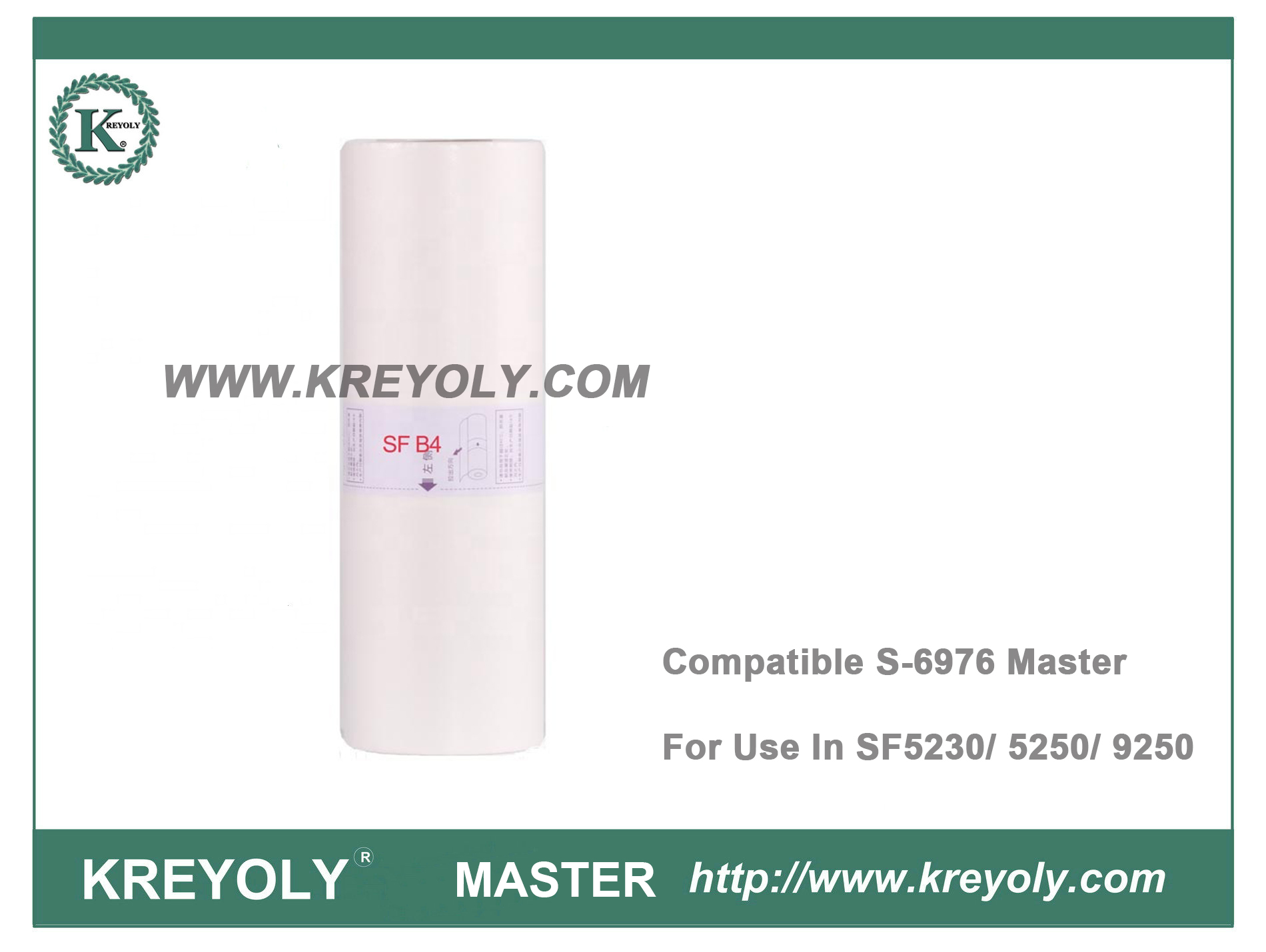 Compatible S-6976 SF B4 MASTER for use in Riso Duplicator SF5230 SF5250 SF9250