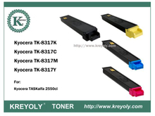 TK-8315/8316/8317/8318/ 8319 COLOR TONER FOR TASKAIFA 2550CI/4500CI/5552CI